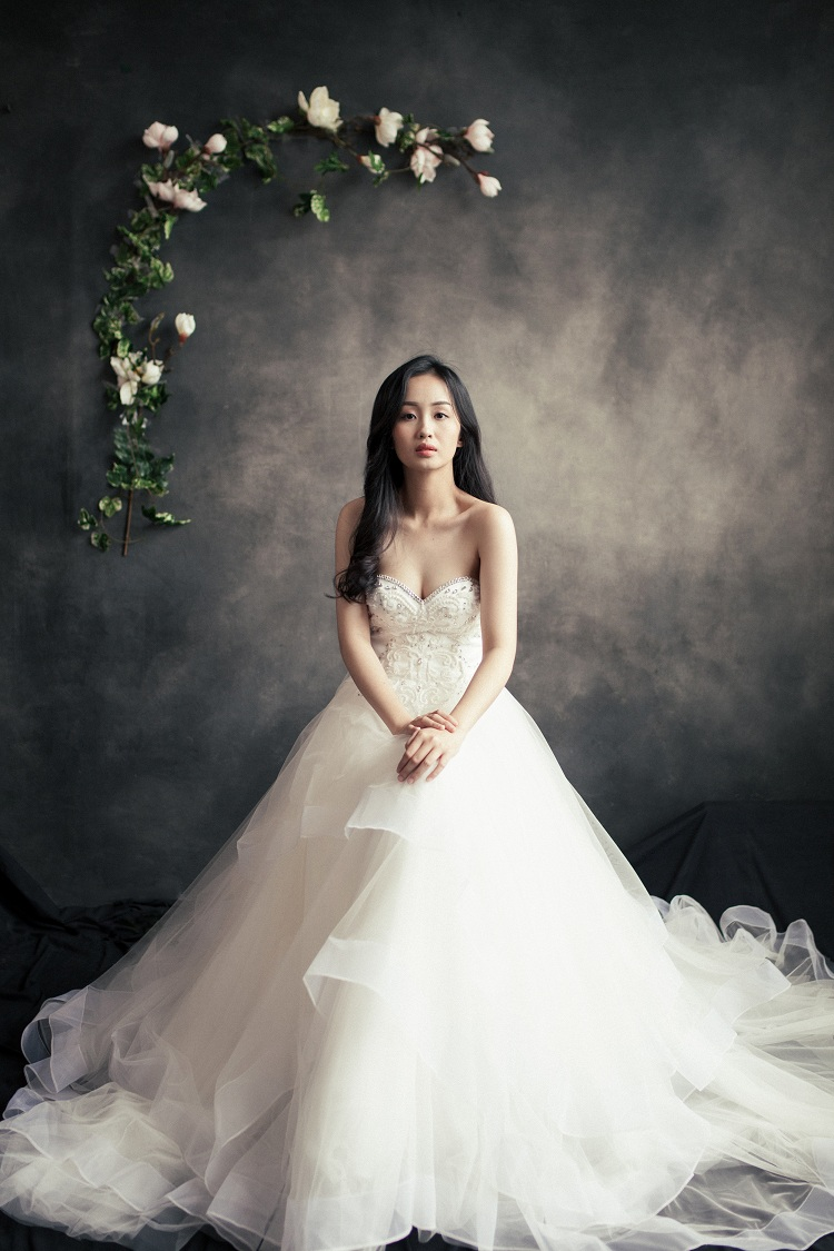 áo cưới công chúa cúp ngực