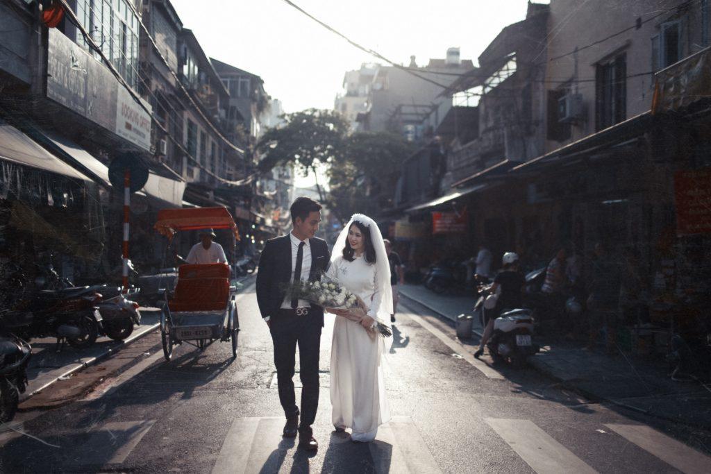 Hình ảnh cưới Hà Nội xưa