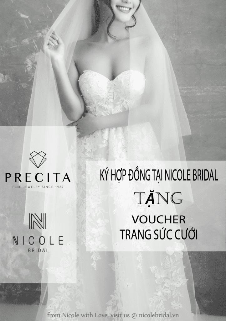 Nicole bridal tặng voucher trang sức cưới