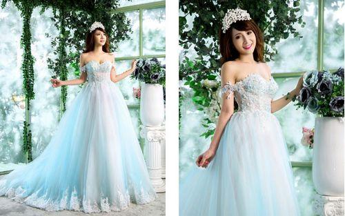áo cưới cho cô dâu gầy thấp