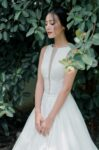 Mẫu áo cưới thiết kế theo phong cách tối giản