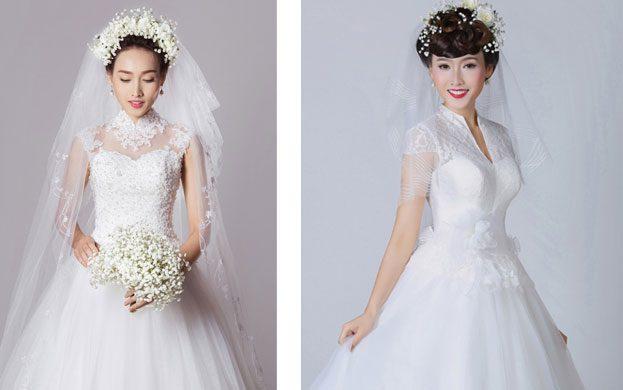 áo cưới tay ngắn