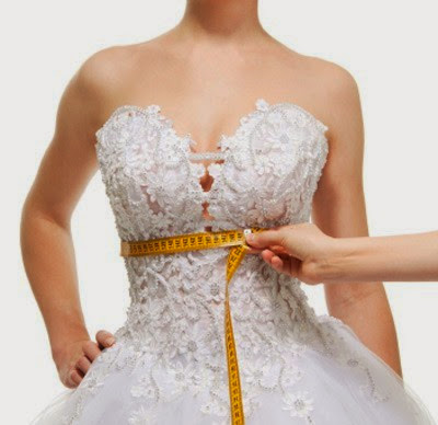 A make-to-measure wedding dress