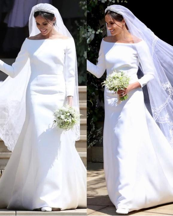 áo cưới tối giản công nương meghan