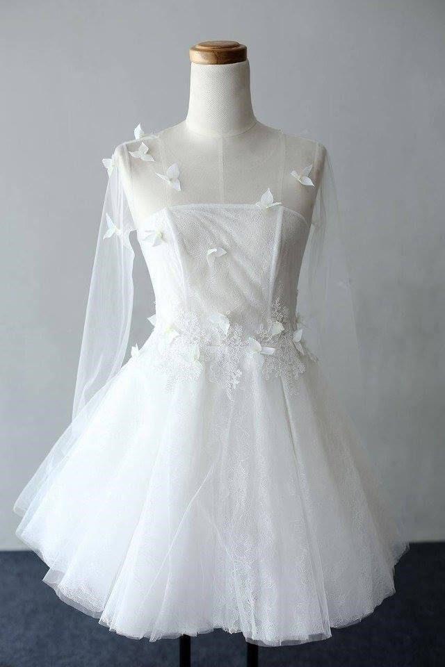 áo cưới ngắn cho cô dâu mập