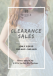 CLEARANCE SALES 2018