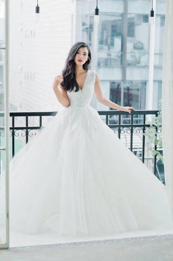 váy cưới đẹp cho bà bầu