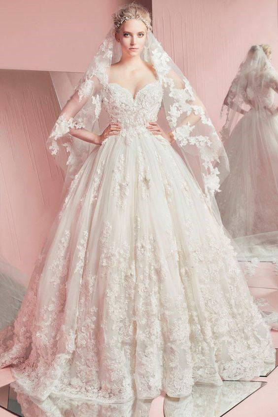 áo cưới cúp ngực trái tim