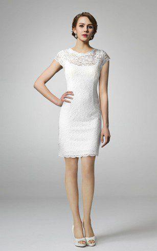 áo cưới dáng suông ngắn