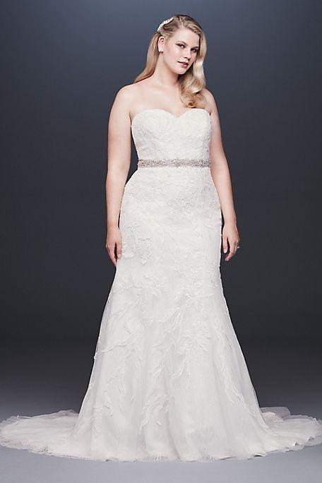 Áo cưới đuôi cá màu trắng đẹp cho cô dâu mập