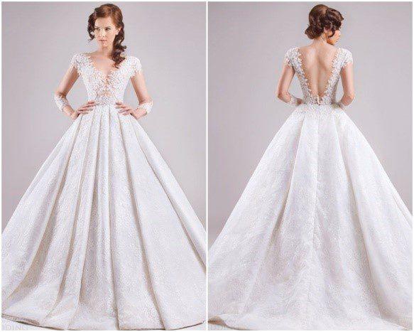 áo cưới hở lưng kiểu công chúa