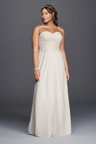 váy cưới dáng suông cho người mập