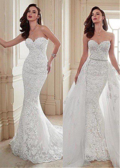 váy cưới 2 trong 1 đẹp