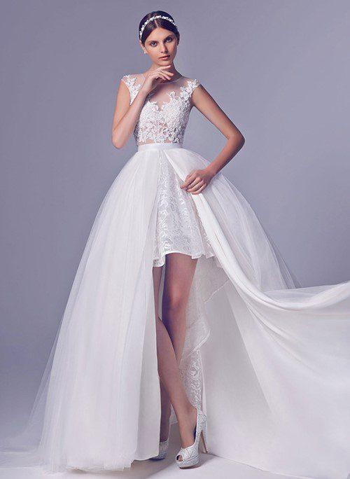 mẫu váy cưới 2 trong 1 đẹp