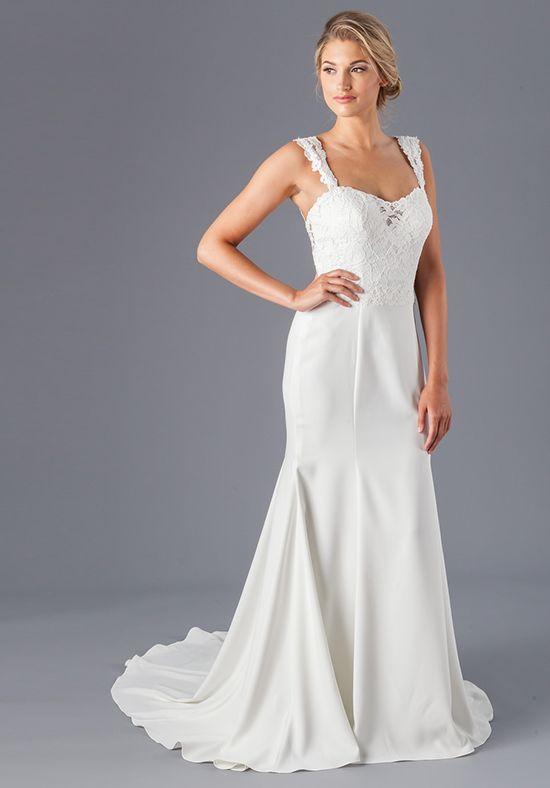 Kiểu váy cưới dáng suông dài 2 dây của The Knot