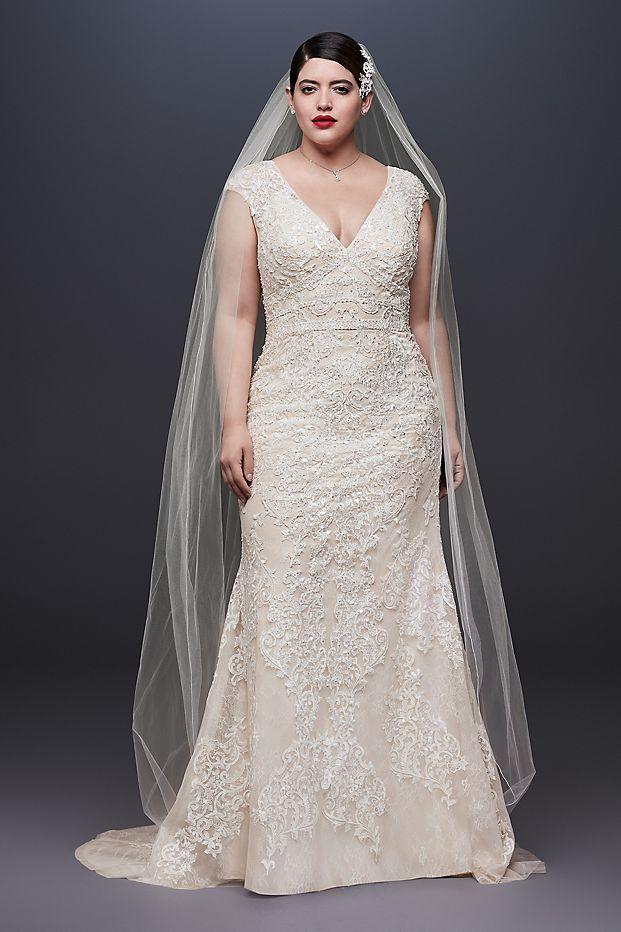 Mẫu váy cưới dáng suông cho cô dâu mập