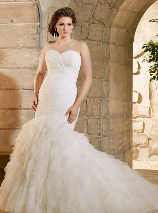 váy cưới đuôi cá cho cô dâu mập