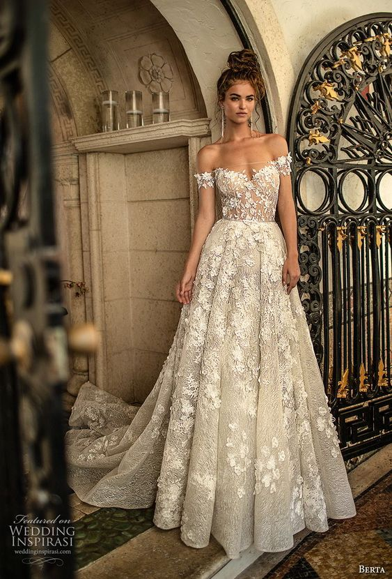 áo cưới trễ vai đẹp 2019