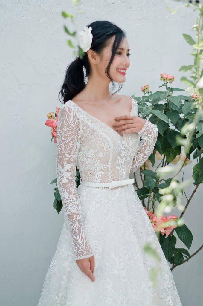 áo cưới cô dâu tròn trịa