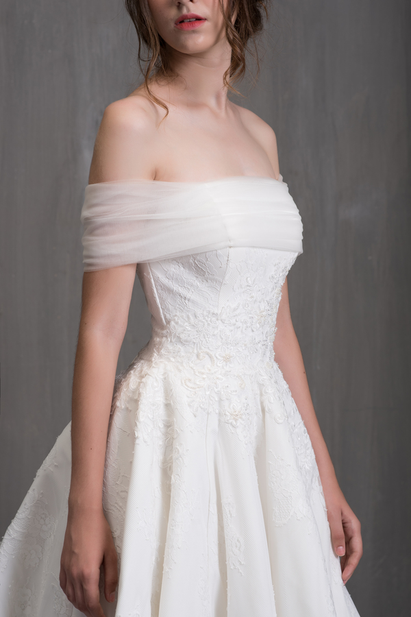 váy cưới có tay