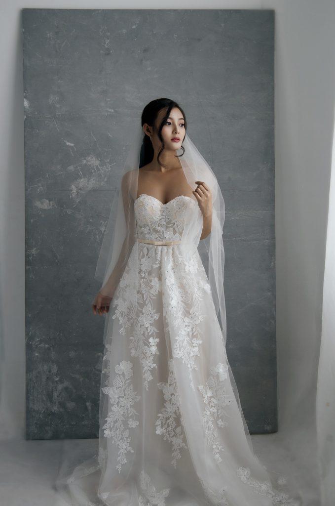 váy cưới bầu