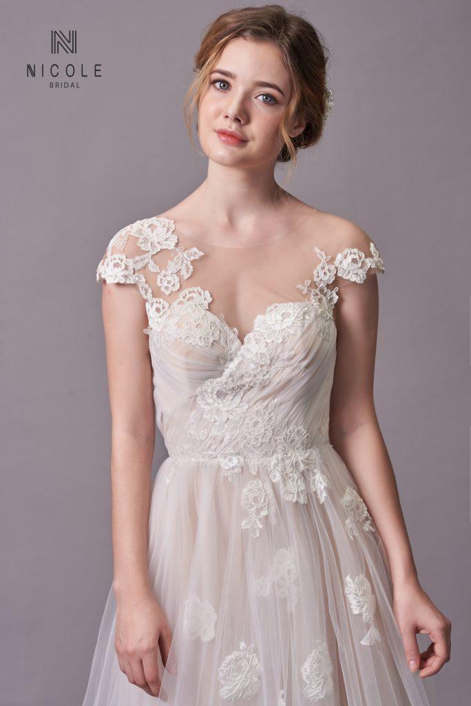 váy cưới đẹp cho cô dâu bầu