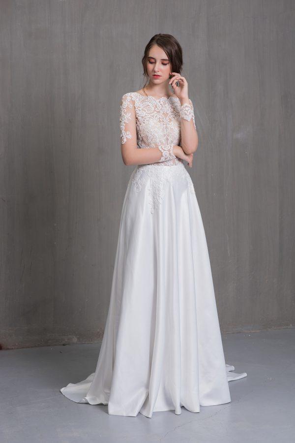 áo cưới cô dâu bầu 2019