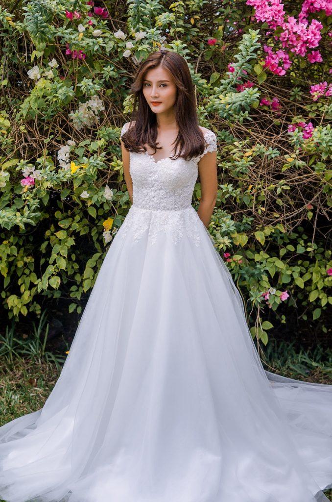 áo cưới đẹp cho cô dâu bầu