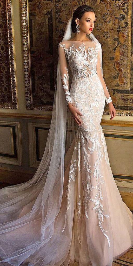 áo cưới dài tay đẹp mẫu đuôi cá