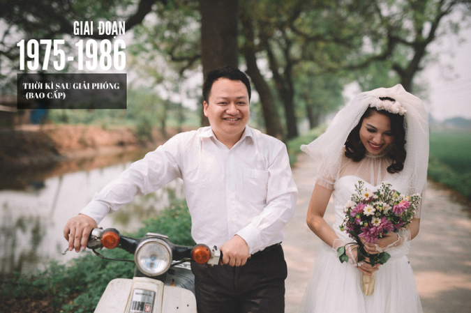 chụp ảnh cưới để cổng phong cách xưa