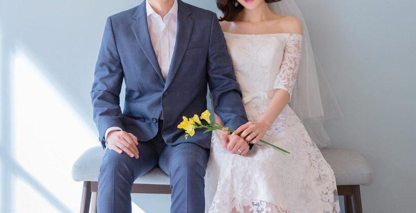 chụp ảnh cưới trong studio phong cách Hàn quốc