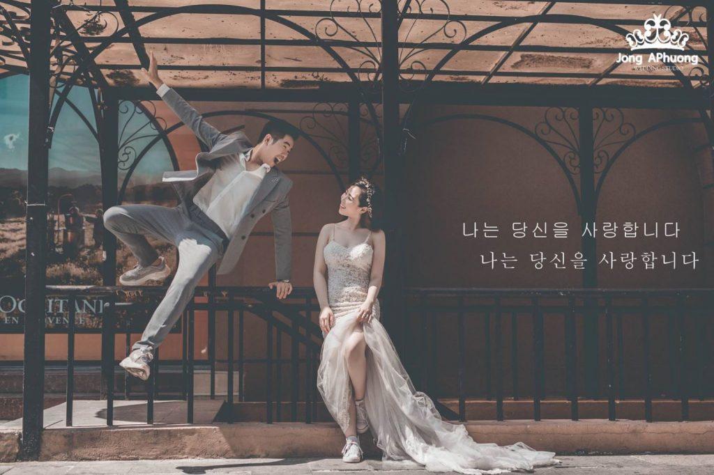 chụp ảnh cưới đẹp bên ngoài