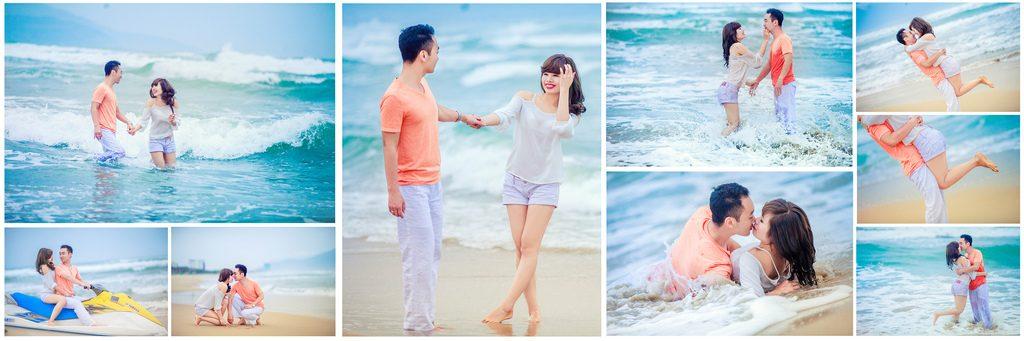 chụp ảnh cưới ở biển
