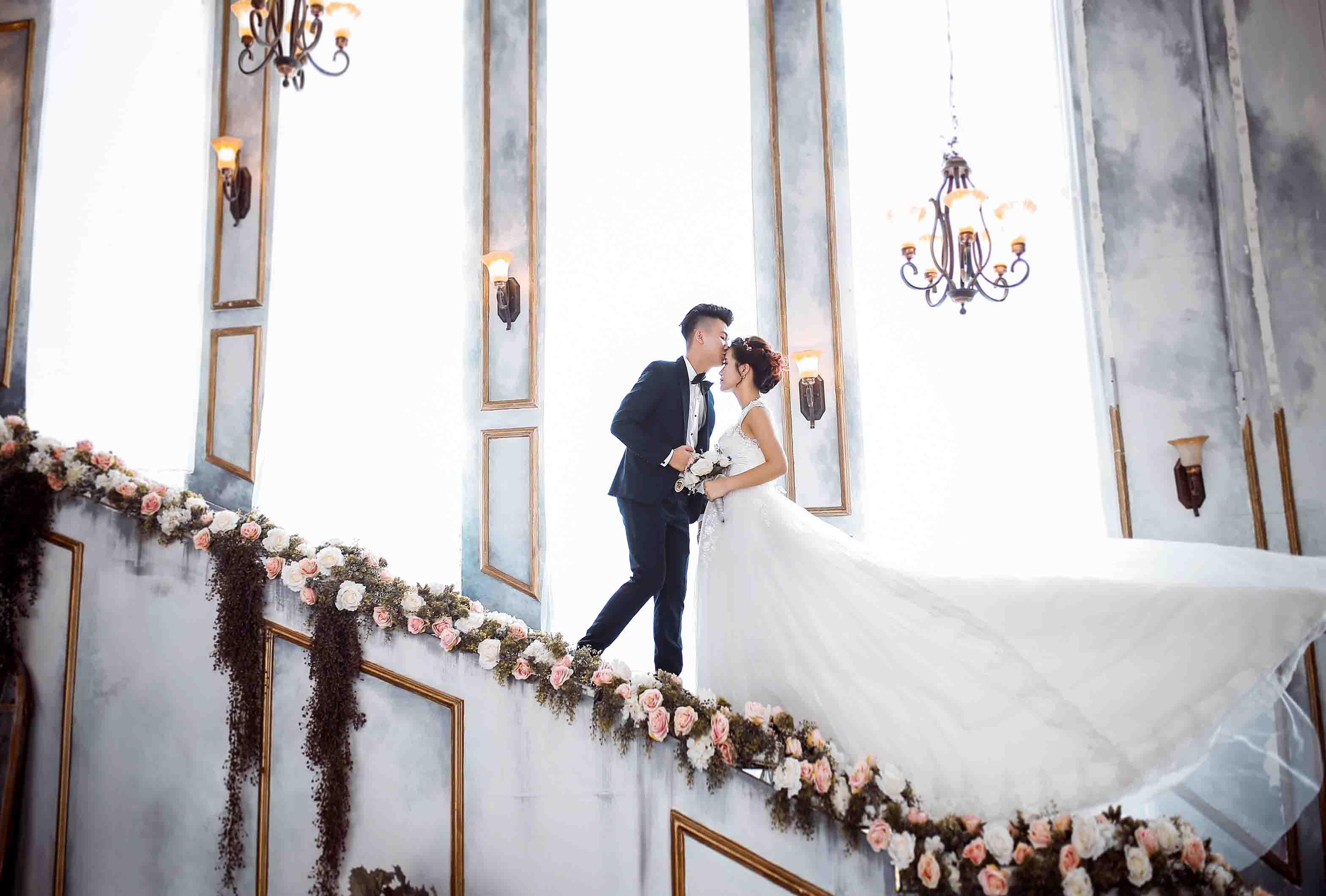 kinh nghiệm chụp ảnh cưới tại phim trường