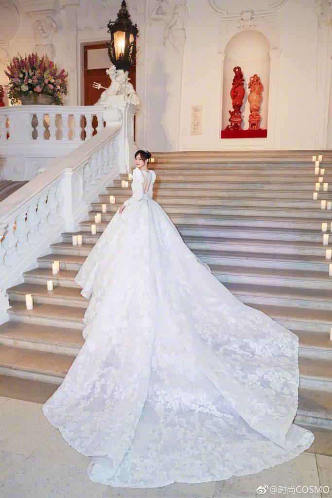 váy cưới của đường yên