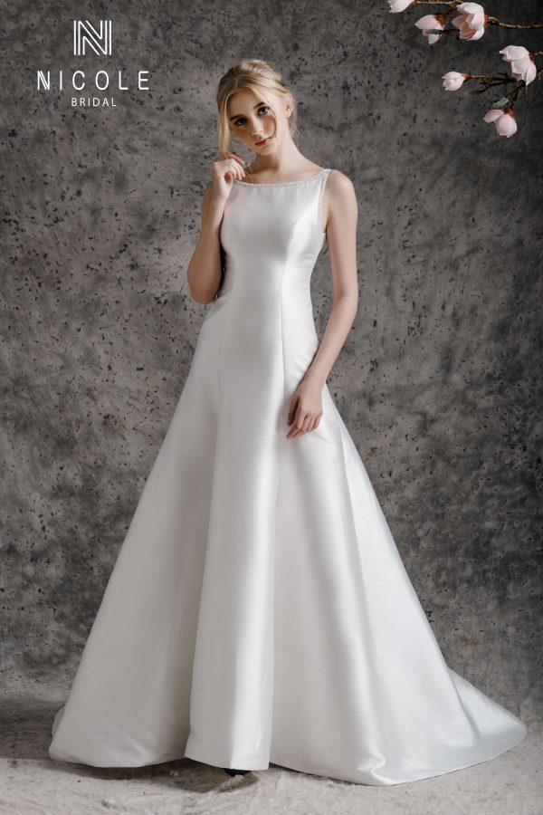 váy cưới phi đơn giản