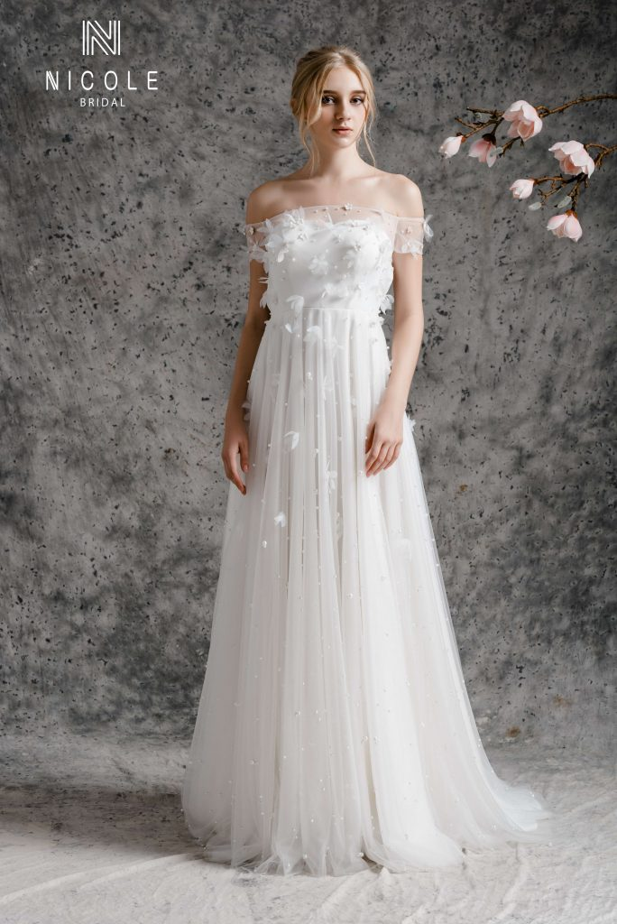 váy cưới chữ a đẹp