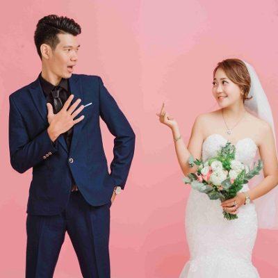 Chụp ảnh cưới phong cách đơn giản trong Studio