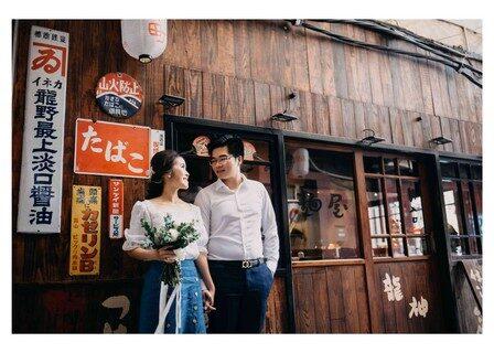 chụp hình cưới khu phố nhật