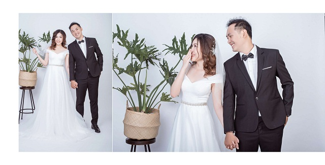 chụp ảnh cưới đơn giản