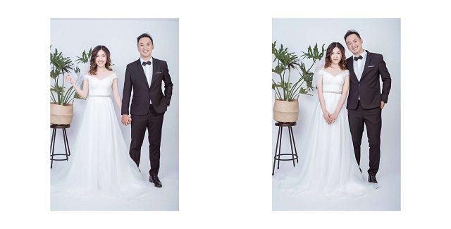 chụp hình cưới trong studio