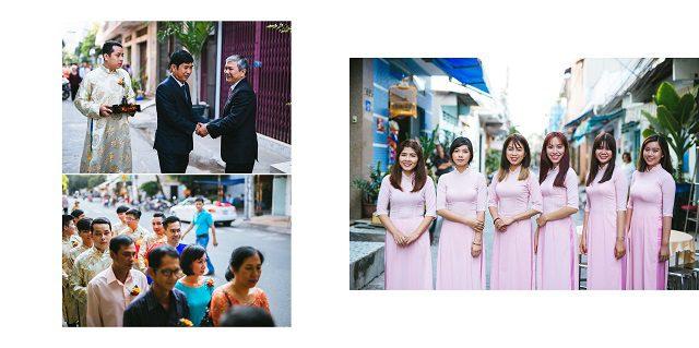 chụp hình tiệc cưới truyền thống