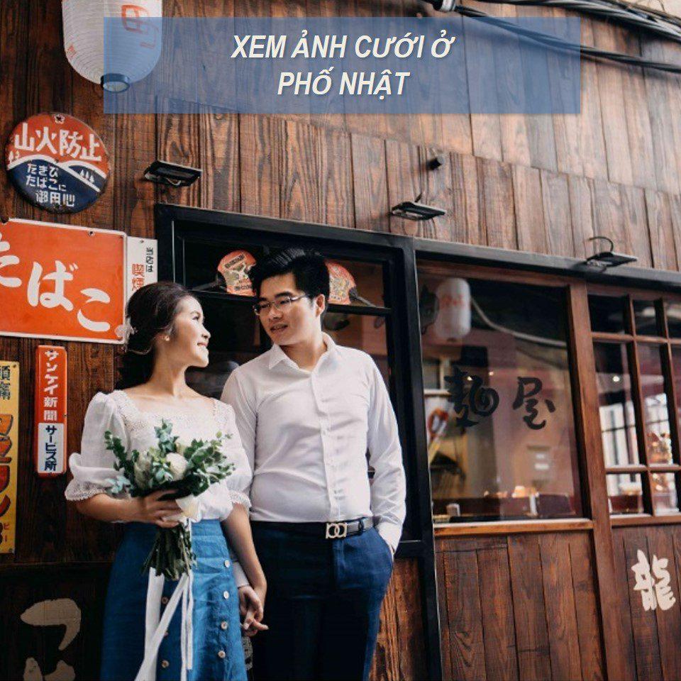 chụp ảnh cưới phố Nhật