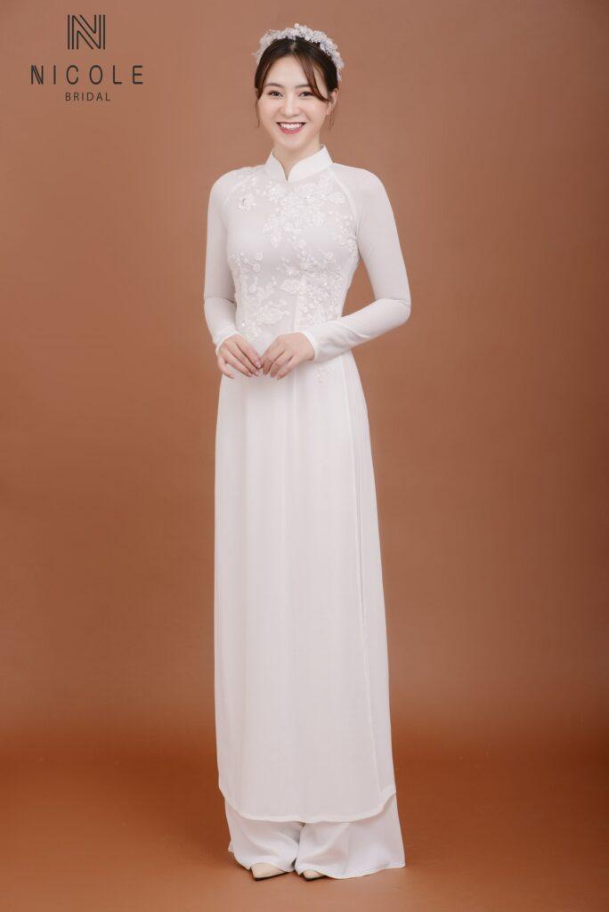 Mẫu áo dài cưới DDTRF76
