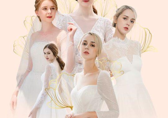 váy cưới kín đáo 2020