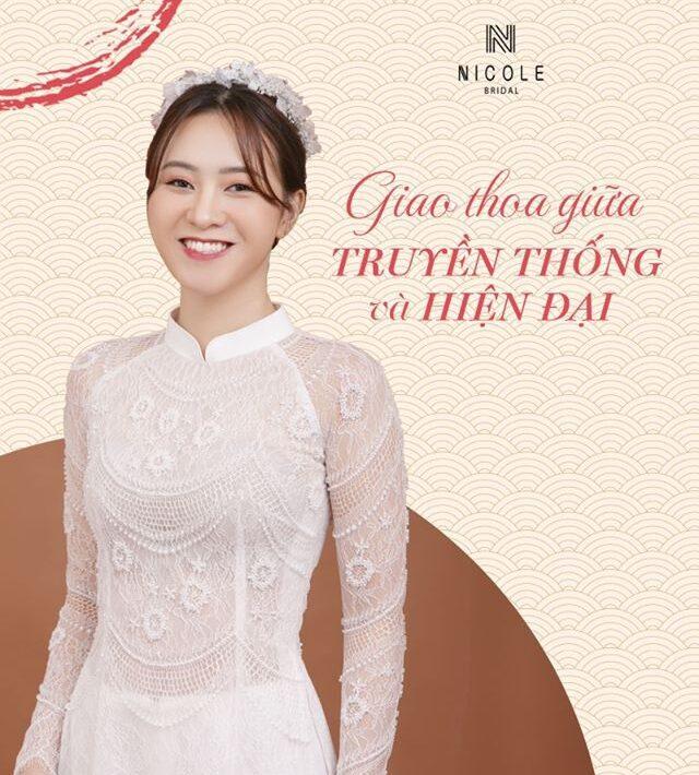 nicolebridal áo dài cưới thiết kế