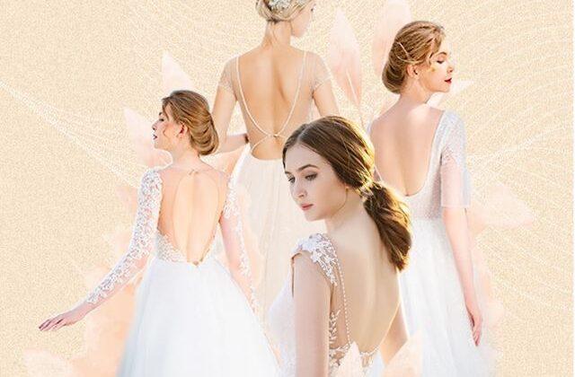 top 10 váy cưới hở lưng đẹp