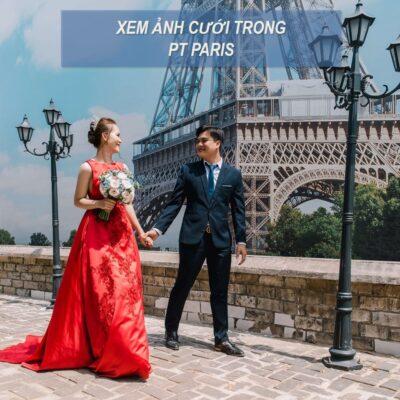 Chụp hình cưới ở phim trường Paris