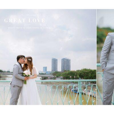 Chụp ảnh cưới ở Phố đi bộ và Cầu Xáng ở TPHCM